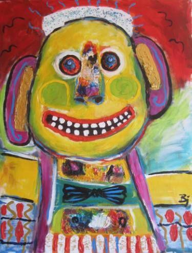 "Saatchi Art Artist Bjoern Beniston; Painting, ""A NICE PERSON"" #art"