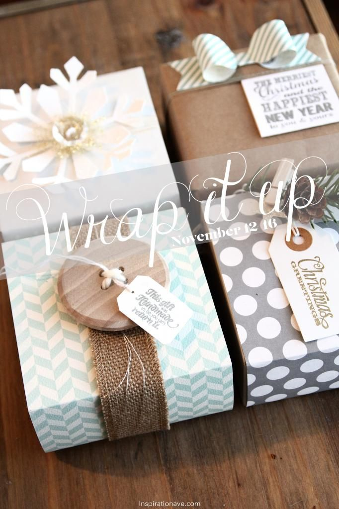 Wrapping ideas and inspiration. Use buttons and neutrals for pretty coordinating packaging. #wrappingideas #giftwrap #wrap