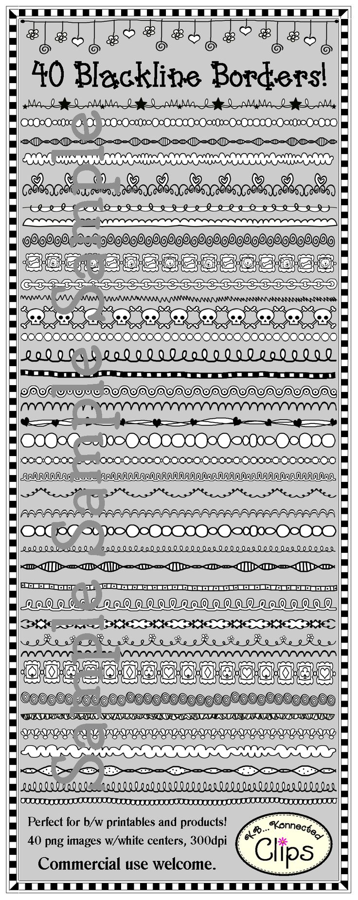 40 blackline Borders/Page Dividers for b/w products and printables! 2 Freebies in preview!!! $ http://www.teacherspayteachers.com/Product/40-Blackline-BordersPage-Dividers-2-freebies-in-preview-873650