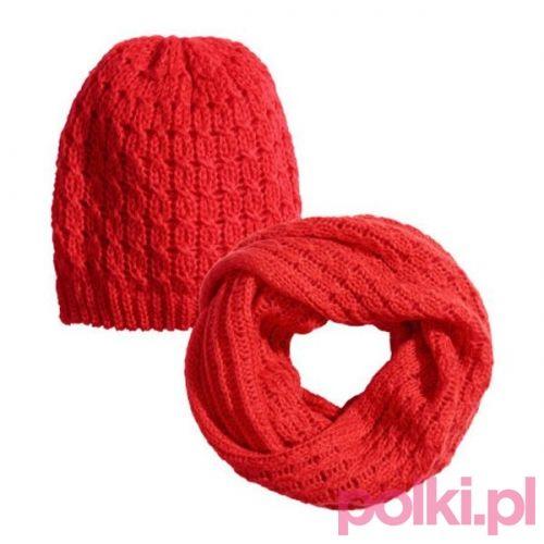 Czerwony komplet H&M #polkipl