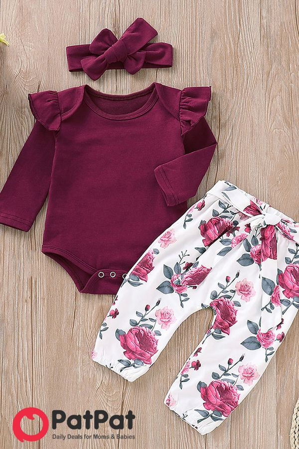 Girls Clothes T-shirt Pants Leggings Headband 3PCS Outfits Set Casual Party USPS
