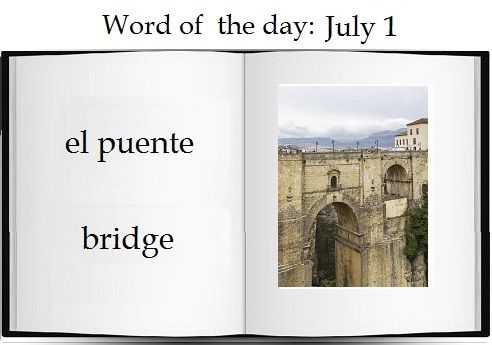Bridge  in Spanish |  The Spanish word of the day is: el puente.   #Spanish #vocabulary #learn