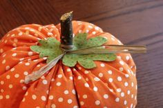 easy sew fabric pumpkin