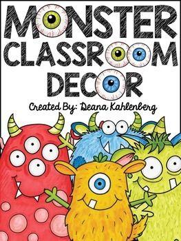 Monster Classroom Decor