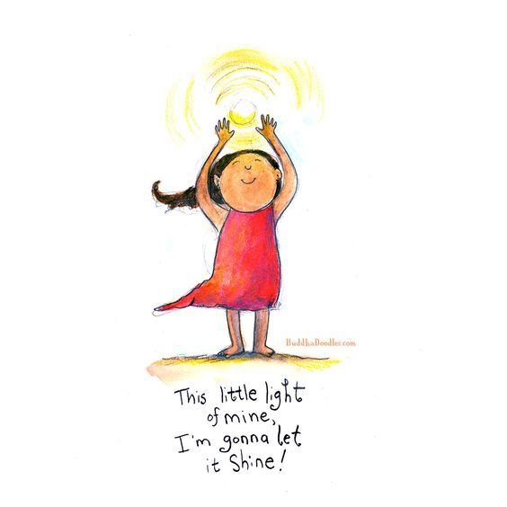 Buddha Doodles - This little light of mine, I'm gonna let it shine!
