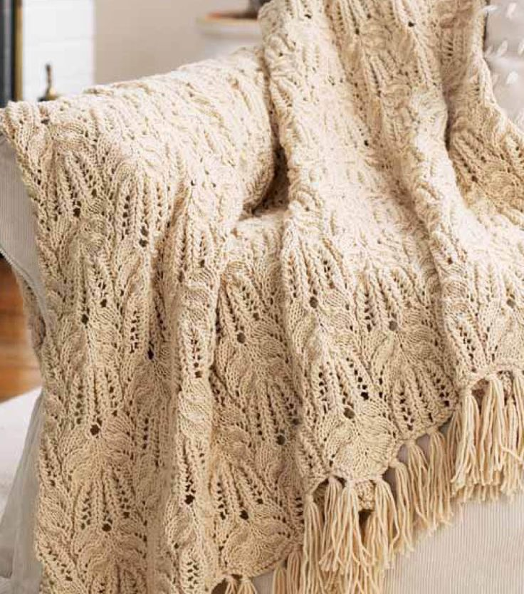 Rope Knitting Patterns : Free knitting pattern lace and cable afghan afghans