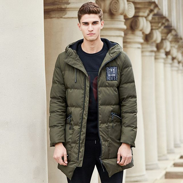 long thicken winter down jacket men clothing warm duck down coat male top quality men down parkas