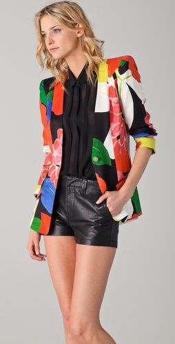 Vibrant florals and black leather #onlinestore #fashion #musthave #shop #socialbliss #haute