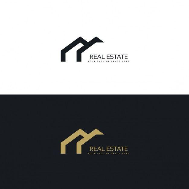 黒と金の幾何学的なロゴ 無料ベクター