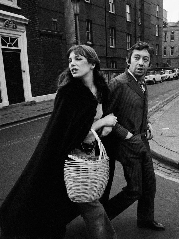 Jane Birkin et Serge Gainsbourg à Londres en 1970