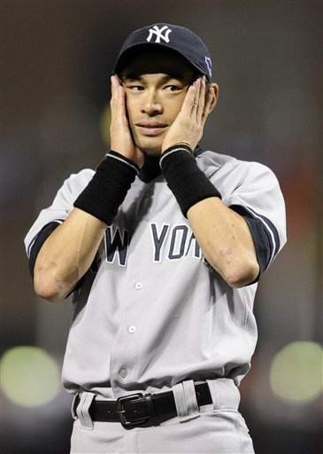 New York Yankees left fielder Ichiro Suzuki (The only good thing about the Yankees... they've got an Asian!) ;)