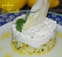 Crème de brandade sur rémoulade de fenouil aux citrons confits et sauce citronette