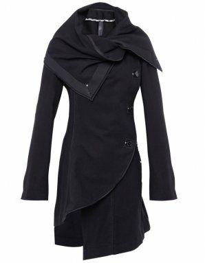 asymmetrical sweater coat