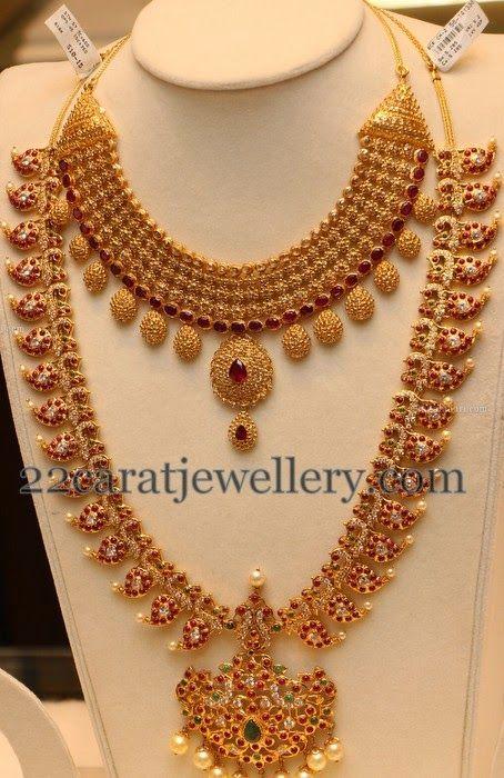 Jewellery Designs: Uncut Choker Ruby Mango Haar