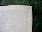 back of hand-tufted rug