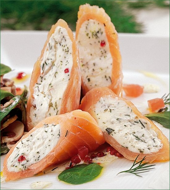 Recette Rouleaux de saumon à la Ricotta
