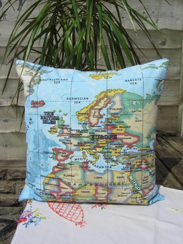 16 best world maptravel images on pinterest world maps worldmap cushion cover world map fabric 1250 gumiabroncs Images