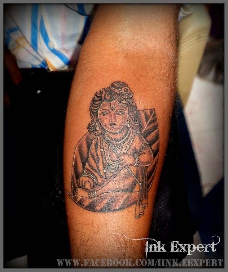 Lord krishna tattoo by Raj Yadav at Ink Expert..