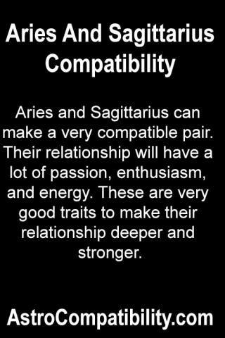 Aries and Sagittarius can make....