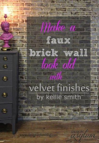 Old Brick Wall Decor : Diy making faux brick walls look old wall decor
