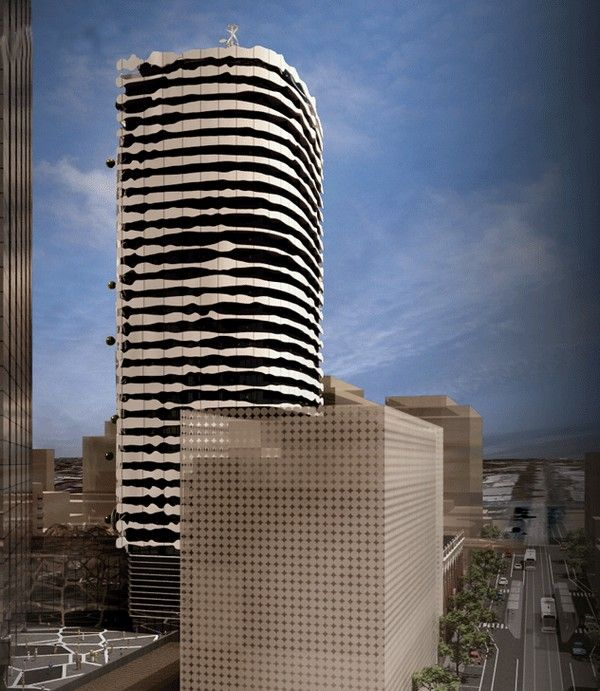 ARM architects designed a unique building in Mebourne, Australia, displaying a portrait of an indigenous leader, to be completed by 2014.