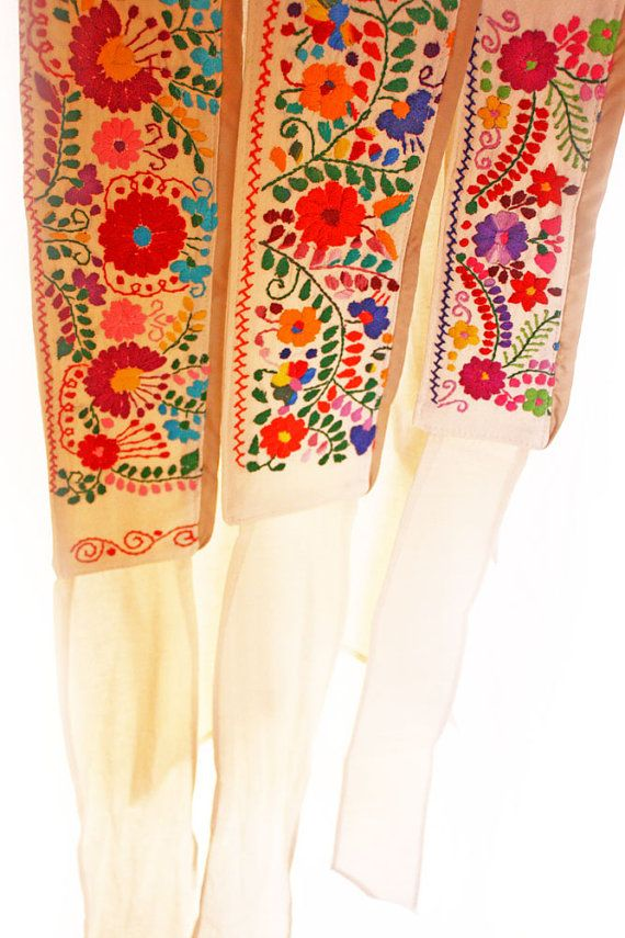 Embroidered Mexican belts Maria Folk by AidaCoronado on Etsy