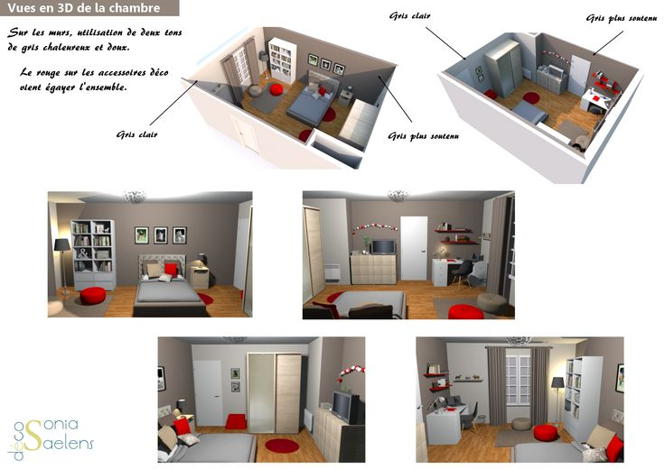 Relooking d 39 une chambre d 39 ado planche conseil 3d projets pro so - Relooking chambre ado ...