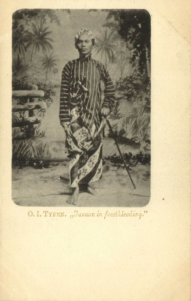 indonesia, JAVA, Dutch East Indies Types Native Man in Party Dress (1899)