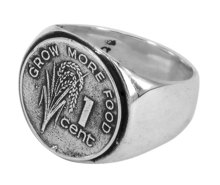 Grow more food ring in sterling silver