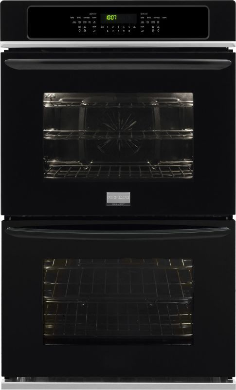 double gas wall ovens 27 inch frigidaire fget2765p 27 inch 38 cu ft gallery double electric oven with true black