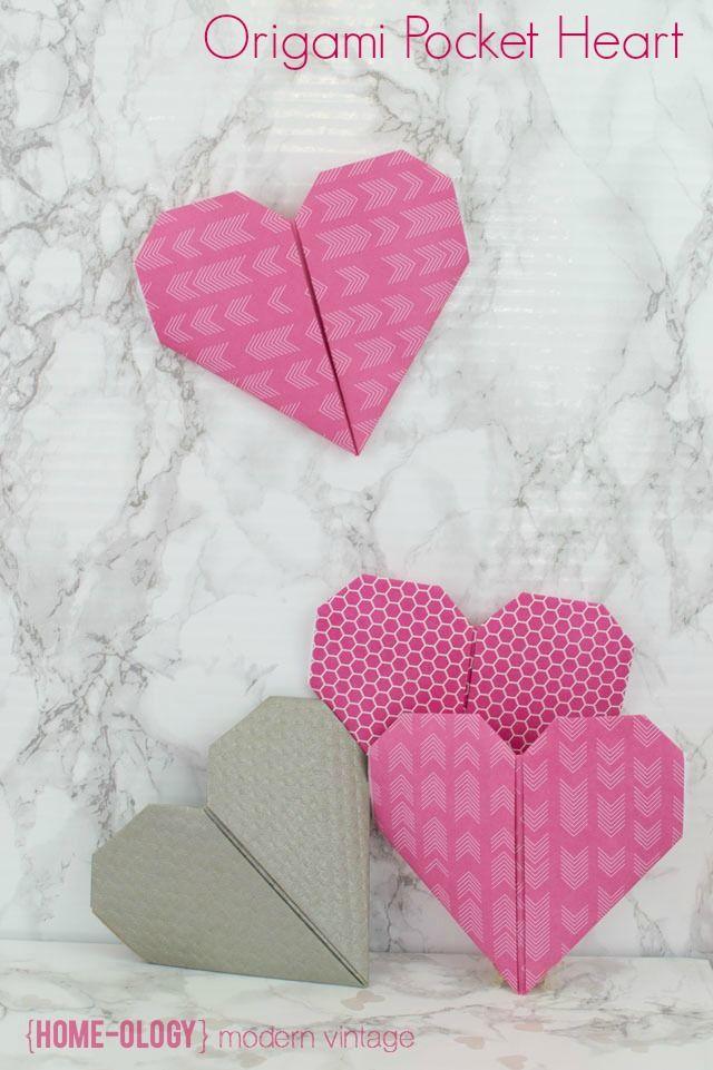 origami pocket heart | {Home-ology} modern vintage