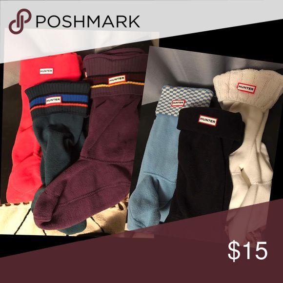 Hunter Socks $15 each or 3 for $50 Hunter Other