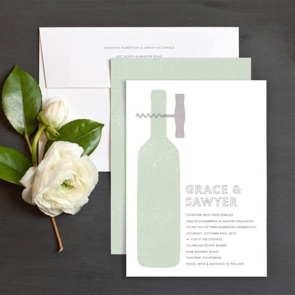 Modern Winery Wedding Invitation