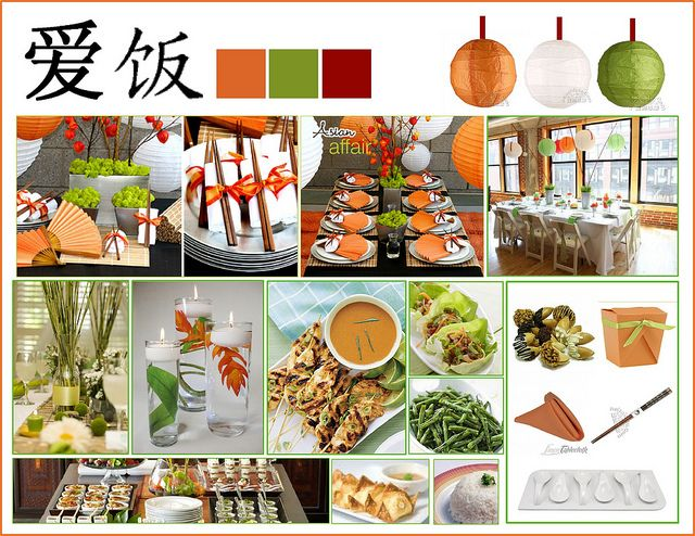 Chinese Dinner Party Ideas Part - 28: The Mood Board For The Dinner Party