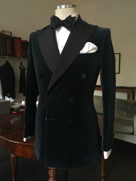 26ca95f2215 purwin-radczun: Bespoke Smoking Jacket DB. H&S Velvet. Fine Corded Silk  Facings. Covered Buttons. By Purwin & Radczun