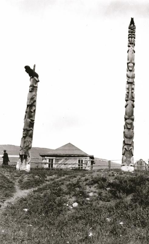 Two of Chief Arhteeh's poles.