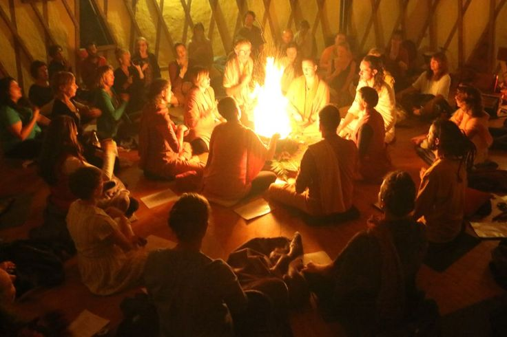 Havan is held several times a week - a joyous and uplifting time
