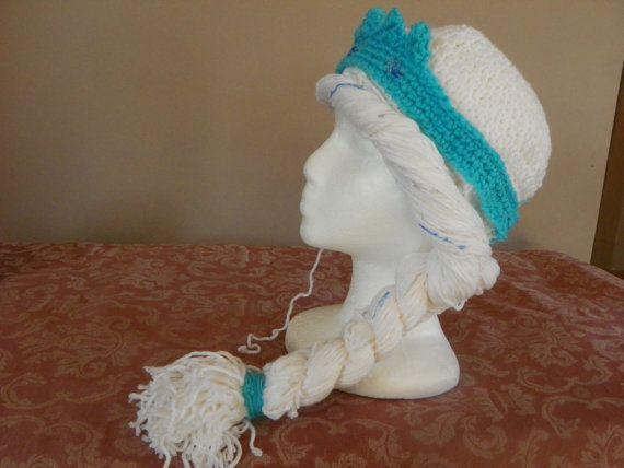 Frozen Elsa Hat with Hair Crochet Pattern