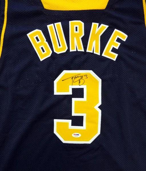 Trey Burke Autographed Michigan Wolverines Blue Jersey PSA/DNA