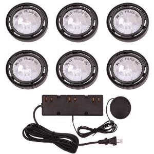 Commercial Electric, 6-Light Xenon Black Under Cabinet Puck Light Kit, EC1333BK at The Home Depot - Mobile