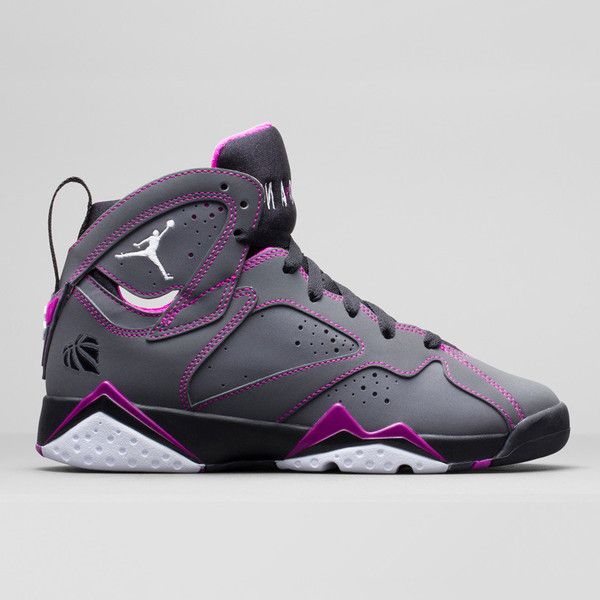 Air Jordan 7 (VII) Retro Girls Dark Grey/White-Black-Fuchsia