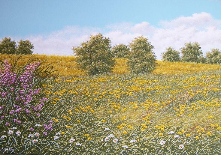 Estate - Olio su tela - 70 x 100 - pittura paesaggista - Marco Saporiti