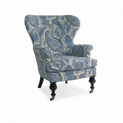 blue paisley chair