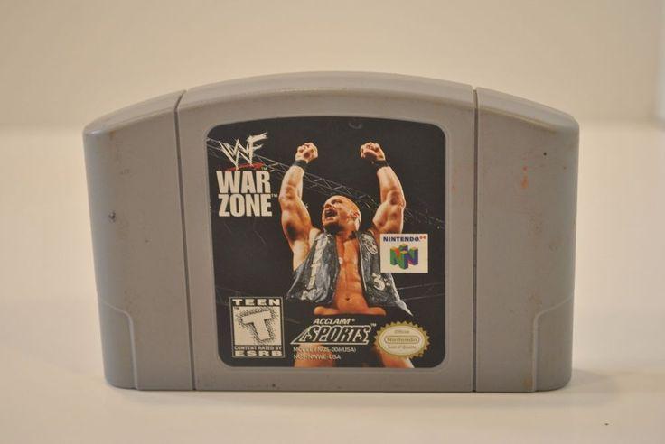 WWF War Zone (Nintendo 64, 1998) N64 Clean Free First Class Shipping wwe