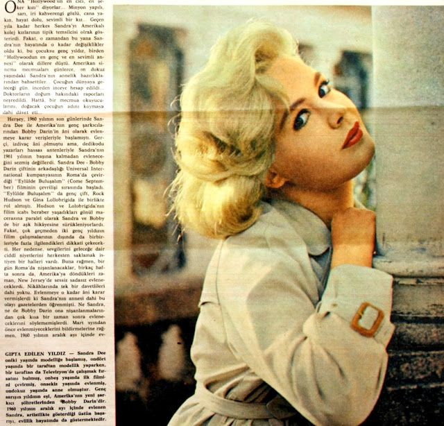 Sandra Dee 1962.