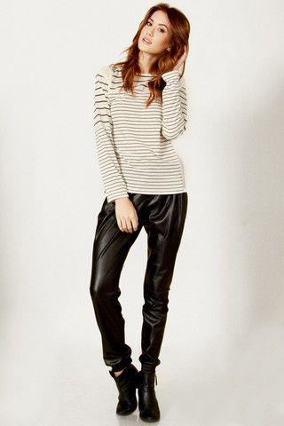 Women's Long Sleeve Crop Top Mesh Shoulders Sleeves $36.99 CAD