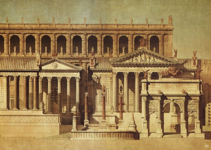 A Hypothetical reconstruction of the Tabularium and Roman ...