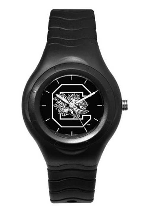 South Carolina Gamecocks Shadow Black Sports Watch with White Logo