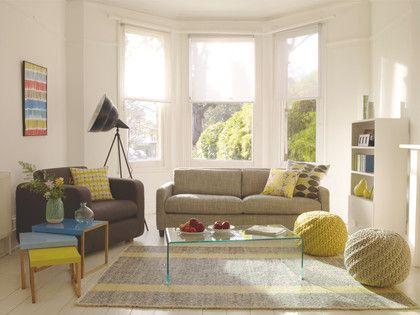 BRECAN NEUTRAL Wool blend Large grey flat weave rug 170 x 240cm - HabitatUK