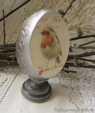 """Яйцо со срезом """" Птичка"""" - Авторская работа, подарки на крещение, пасху. МегаГрад - online выставка-продажа авторской ручной работы"""